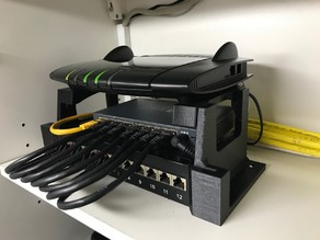 Fritzbox / Patch Panel / Network switch holder