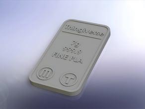 24 Carat Pure PLA Bar