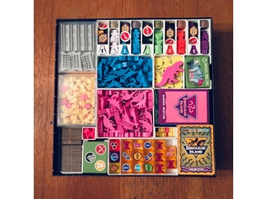 Board Game Insert for Dinosaur Island X-treme Edition & Totally Liquid - Fit (almost) everything in one box