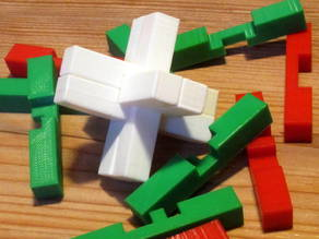 6 Piece Cross Puzzle Burr