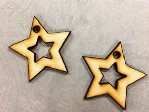 Star Laser Cut Earrings