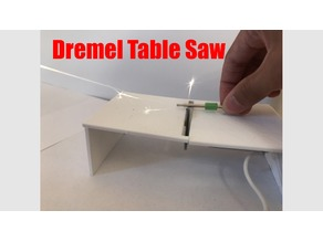Mini Table Saw using Dremel Blade