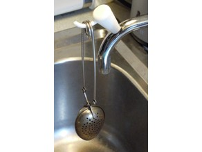 handle with hook for curved sink faucets