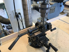Drill Press Vise Thread Cutting Die Holding Jig