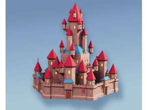 Low Poly Fantasy World - The Castle