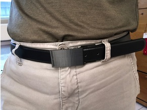 3D printed belts buckle for speeding through airport security