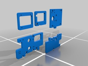 Printrbot Alu extruder adapter parts (all models)