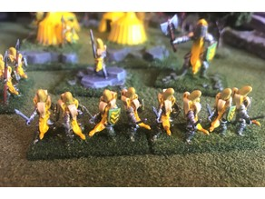 15mm Banana Knight Blades / Swords Wargames Figures - HotT