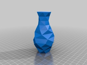 Parametric low random poly sinus vase