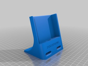 Deskstand for Pocophone with flip cover on
