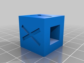 XYZ Calibration Cube with hole