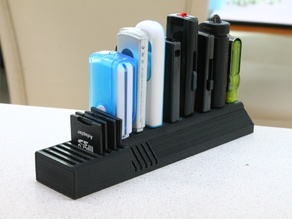 USB and SD card holder for wide USB sticks