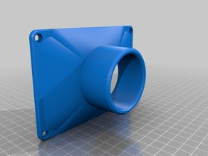 "Rear Vent to 2.5"" Adapter for Anycubic Photon"