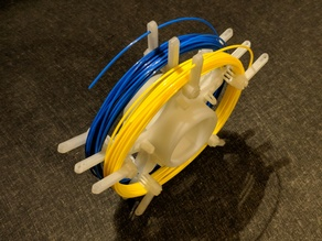 Two-Slot Unlockable Loose Filament Spool