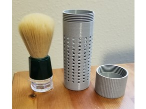 Travel Shave Brush Container