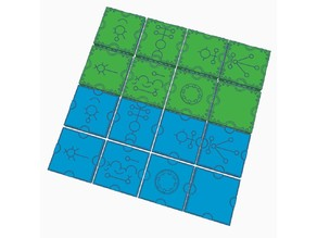 Sci-fi / Space Marine Adventures / Space Hulk floor and wall tiles (OpenLock)