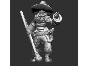 Human mage for fantasy gaming ver 2.0