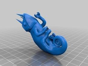 Chameleon with Horns