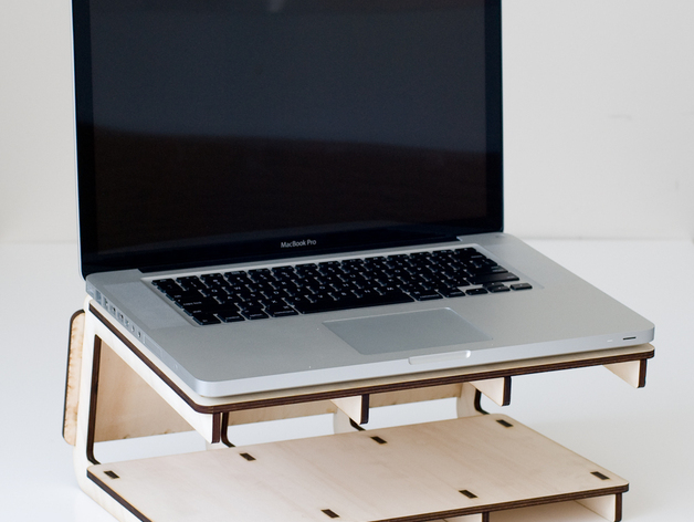 Cantilever Laptop Stand By Madebydan Thingiverse