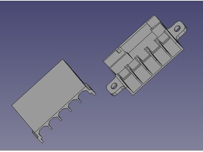 XT60 sockets expander for Ender or any other 2020/2040 extrusion