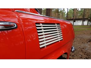 Skoda 1000mb cooling grill for rear fender - WIP