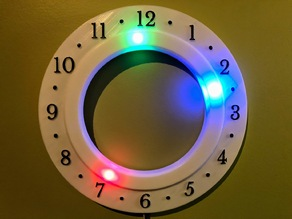 Customizable Clock for 60 LED circle