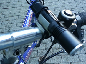 torch & lock holder for bike