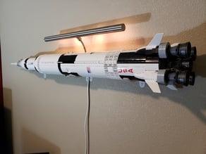 Lego Saturn V wall mounts