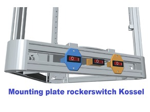 Mounting plate rockerswitch for Kossel