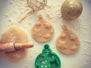 Christmas Ball Ornament Cookie Cutter