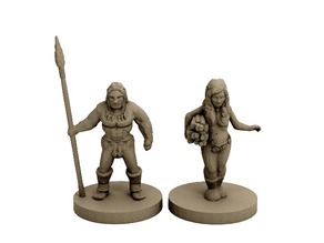 Neanderthal Hunter and Gatherer (18mm scale)