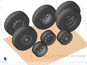 Tamiya Truck wheels scale 1/14