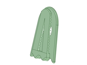 Ghostly hairclip - Ghostly barrette