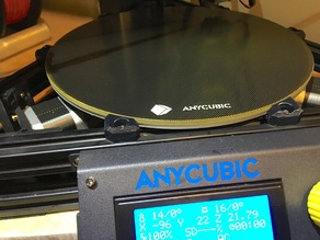 Anycubic Kossel Linear Plus Ultrabase heatbed clips
