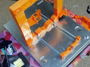 Prusa I3 Printable frame, Y-carriage and Modified Y-ends for 8mm rods