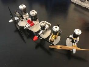 COX model engine display stand