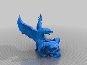 Devil Skull & Eagle Smoothed (No Logo)