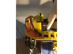 Beefy CTC Prusa I3 Z-Axis Bracket w/ cable chain mount
