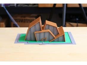 Multi-Color Nordic-Inspired Architectural Model
