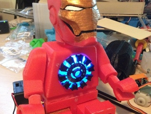 Light Up Lego Iron Man