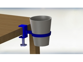 Cup Holder with vise setup
