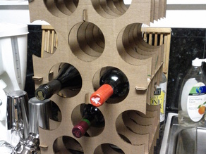 Simple Cardboard Wine Rack v1