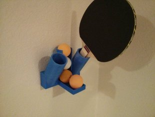 Ping Pong Ball and Paddle Holder