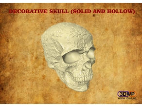 Decorative Skull (Solid And Hollow)