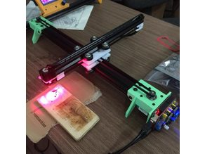Portable frame for laser and drawing machine using aluminium 2020-2040