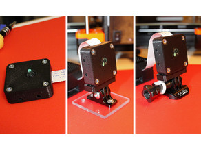 Case Raspberry Pi Camera V2 (universal mounting) and GoPro holder adapter