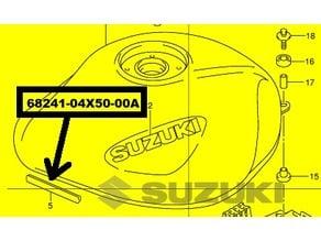 Suzuki Fuel tank molding 68241-04X50-00A