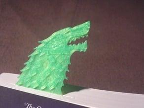 Stark Direwolf Sigil Bookmark