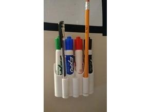 Dry erase marker holder