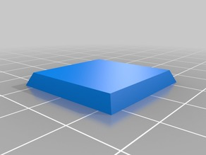 1 inch square base with magnet slot